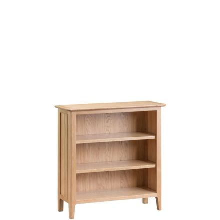 Newhaven Oak Small Wide Bookcase